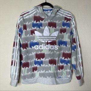 Adidas Logo Printed Sweatshirt Hoodie